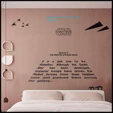 Star Wars Wall Decal Empire Strikes Back Crawl Etsy