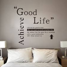 41 Off Dsu Good Life Wall Sticker Quotes English Motto Bedroom Living Room Home Decal Rosegal