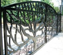 laser cut perforated garden fence gate