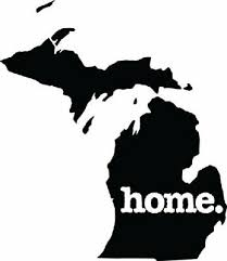 Select Size Michigan Native Home Car Vinyl Sticker