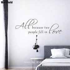 Mad World All Because Two People Fell In Love Wall Art Stickers Wall Decal Home Diy Decoration Removable Decor Wall Stickers Decorative Wall Stickers Decoration Wallwall Sticker Decor Aliexpress