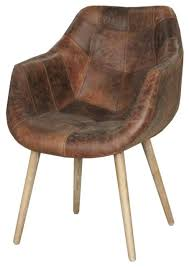 dining chair in distressed brown