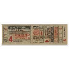 New York Yankees 1936 World Series Ticket 72 Wall Decal Walmart Com Walmart Com