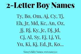 2 letter boy names nancy s baby names