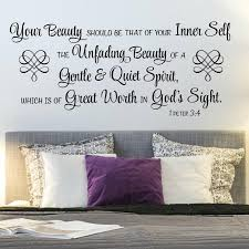 Wall Scripture Decals 1 Peter 3 4 Your Beauty Should Be Vinyl Written
