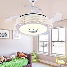 Amazon Com Southerns Lighting Invisible Reversible Ceiling Fans With Light Retractable Blade Modern Folding Fan Chandelier Remote Hanging Lights For Kids Room 42 Indoor Led Ceiling Light With Fans White 01 Kitchen Dining