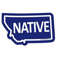 Montana Native Sticker Heart Sticker Company