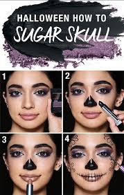 how to do sugar skull makeup easy
