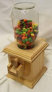 hand made wooden candy dispenser m m