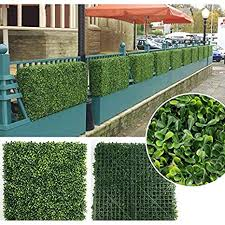 A Rated Boxwood Hedge Fence Panels 12 Pack 20 X 20 33 Sq Ft Privacy Fence Plant Wall Artificial Hedge Outdoor Privacy Leaf Wall Indoor Outdoor Fence Panel W Bonus Gifts Amazon In Garden Outdoors