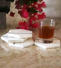 white marble set of 4 tea coaster