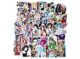 Sexy Anime Girl Laptop Stickers Car Skateboard Motorcycle Bicycle Luggage Guitar Bike Decal 100pcs Pack Newegg Com