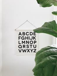 Alphabet Banner For Kids Room By Parade And Company Art Wall Kids Boho Kids Room Kid Room Decor