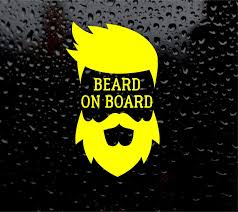 Amazon Com Vinyl Stickers Beard On Board Funny Hipster Hair Car Decal 6 X 4 Inches Automotive