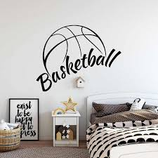Basketball Wall Decals Basket Sports Boy Bedroom Basketball Hall Interior Art Decal Vinyl Wall Stickers Home Decor Ball S528 Wall Stickers Aliexpress