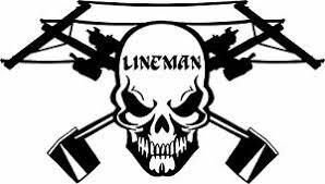 Lineman Skull Electrician Power Worker Car Truck Window Vinyl Decal Sticker Ebay