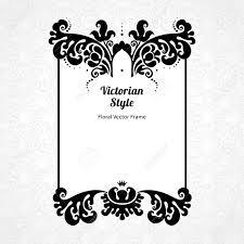 Vector Marco Decorativo En Estilo Victoriano Elegante Elemento De