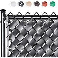 Amazon Com Chain Link W Shape Bottom Lock Fence Slats 6 Ft Black Garden Outdoor