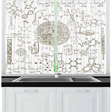 Ambesonne Kids Room Decor Shower Curtain By Fabric Bathroom Decor Set With Hooks Multicolor 70 Inches Science Education Lab Sketch Books Equation Loupe Microscope Molecule Flask Shower Curtain Sets