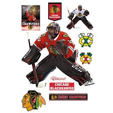 Chicago Blackhawks Corey Crawford Fathead 9 Pack Life Size Removable Wall Decal