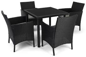 5 piece rattan outdoor dining set