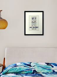 I Ll Love You Forever I Ll Like You For Always As Long As I M Living My Baby You Ll Be Framed Art Print By Nektarinchen Redbubble
