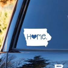 Iowa Home Decal Iowa State Decal Homestate Decals Love Sticker Love Decal Car Decal Car Sti Love Stickers Personalized Vinyl Decal Bumper Stickers