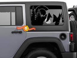 Jeep Wrangler Jk Jl 2007 2019 Flag State Of Colorado Design Window Hardtop Set Vinyl Decal