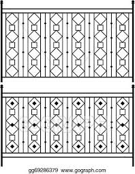 Eps Vector Wrought Iron Gate Door Fence Window Grill Railing Design Stock Clipart Illustration Gg69286379 Gograph