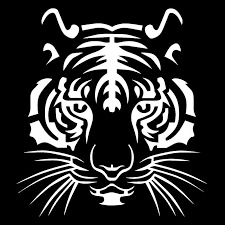 Wholesale Powerful Tiger Head Car Styling Motorcycle Vinyl Decal Car Sticker White From China
