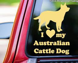 I Love My Australian Cattle Dog Vinyl Decal Sticker 7 X 5 Red Blue Heeler Acd Minglewood Trading
