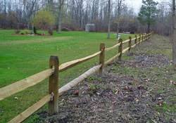 Residential Wood Fence Split Rail Fencing In Western New York
