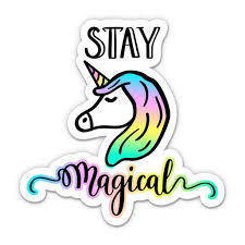 Stay Magical Unicorn 3 Vinyl Sticker For Car Laptop I Pad Phone Helmet Hard Hat Waterproof Decal Walmart Com Walmart Com