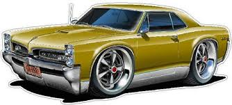 Classic Car 1966 67 Gto Wall Decal Car Photo Decal Man Cave Etsy