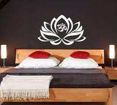 Wall Decals Lotus Flower Decal Om Symbol Vinyl Sticker Yoga Studio Bedroom V999 Ebay