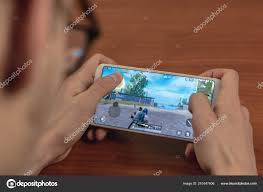 March 14, 2019: A young man plays Pubg ...