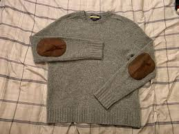 sweater mens size small gray wool
