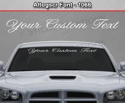 Altog Script Font Custom Text Letters Vinyl Sticker Decal Graphic Sticky Creations