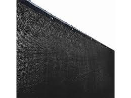 Aleko Plk0625blk Unb 6 X 25 Ft Black Fence Privacy Screen Mesh Fabric With Grommets Newegg Com