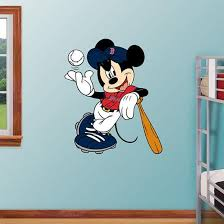 Mickey Mouse Red Sox Wall Decal Allposters Com