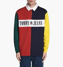tommy jeans 90s colorblock rugby