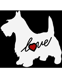 Find Big Savings On Scottie Dog Animal Puppy Love Heart Custom Car Decal Window Sticker Vinyl Free Shipping