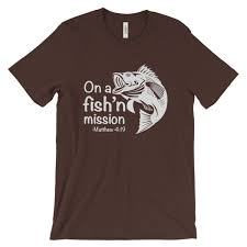 On A Fishing Mission Matthew 4 19 Fisher Of Men T Shirt Cosmic Frogs Vinyl