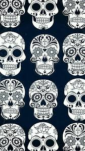 black white sugar skull wallpaper on