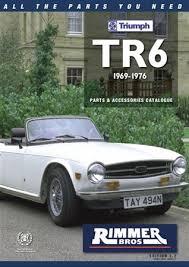 rimmer bros triumph tr6 catalogue 1969