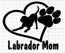 Lab Mom Lab Mom Decal Labrador Mom Labrador Mom Decal Etsy