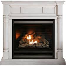 full size dual fuel vent free fireplace
