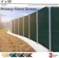 Shade Cloth 3 Years Warranty Bouya Brown Privacy Fence Screen 4 X 25 Heavy Duty For