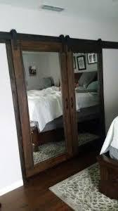 our own diy mirrored barn closet doors