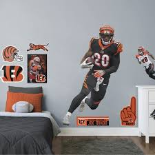 Fathead Joe Mixon Life Size Officially Licensed Nfl Removable Wall Decal Walmart Com Walmart Com